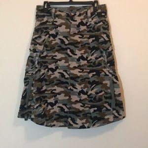 Goddess Midi Camo Skirt size 11/12